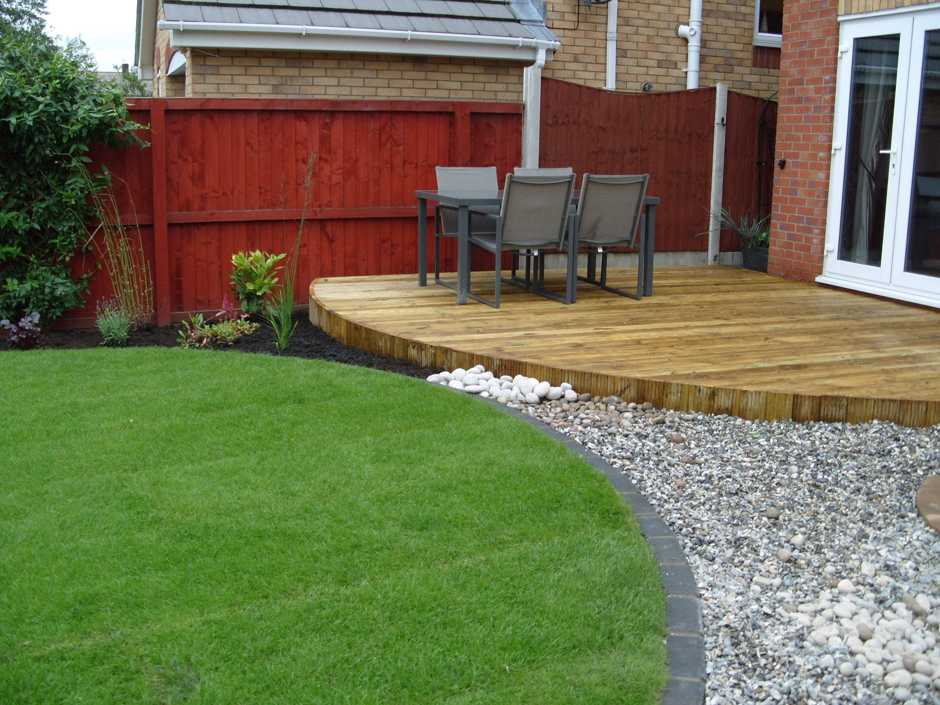 Garden design ideas on pinterest garden design small for Garden decking design ideas