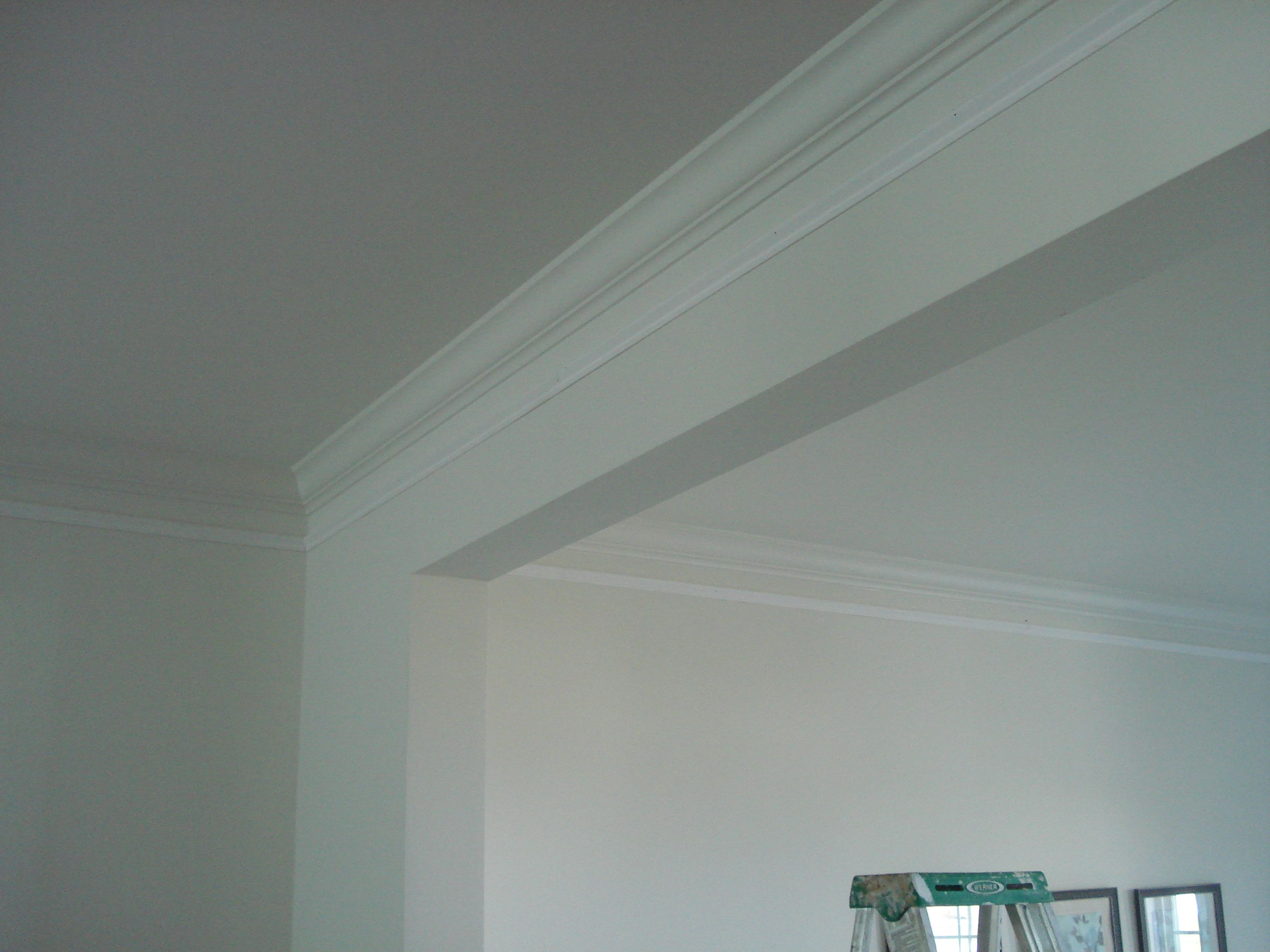 add extra molding under the crown molding | house ideas