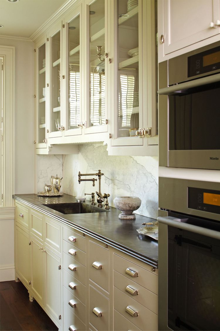 glass doors and hardware on cabinets