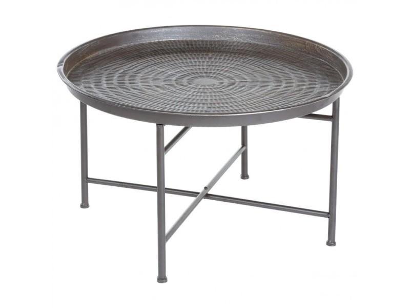 Table D Appoint Design Instants Nature 65cm Gris Vente De Paris Prix Conforama En 2020 Table D Appoint Design Table De Jardin Table D Appoint