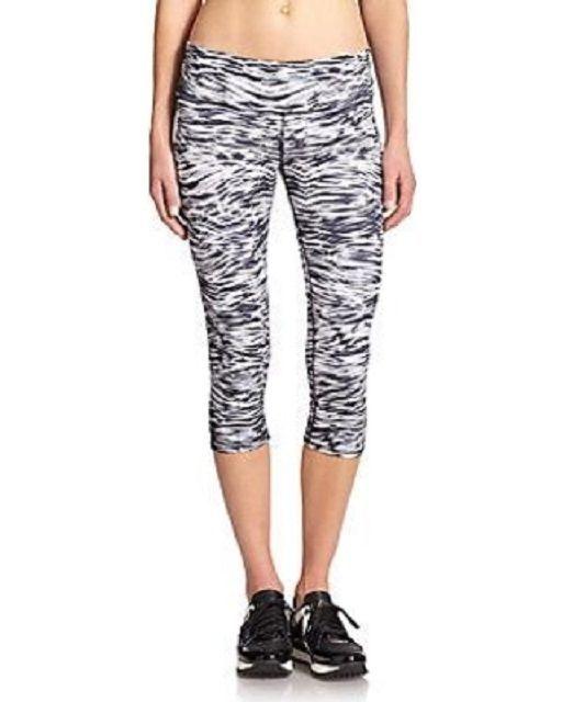 ad80afe05d9d0 ALO NEW Airbrushed Capri Legging Yoga Gym Pants in Mono Waves Size XS $72 # Alo #PantsTightsLeggings