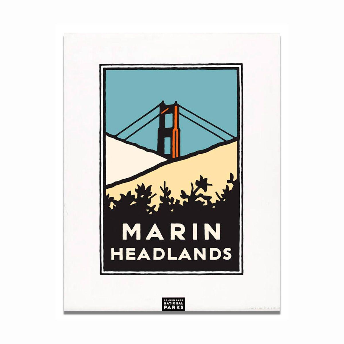 Unframed Poster Marin Headlands Park, Marines