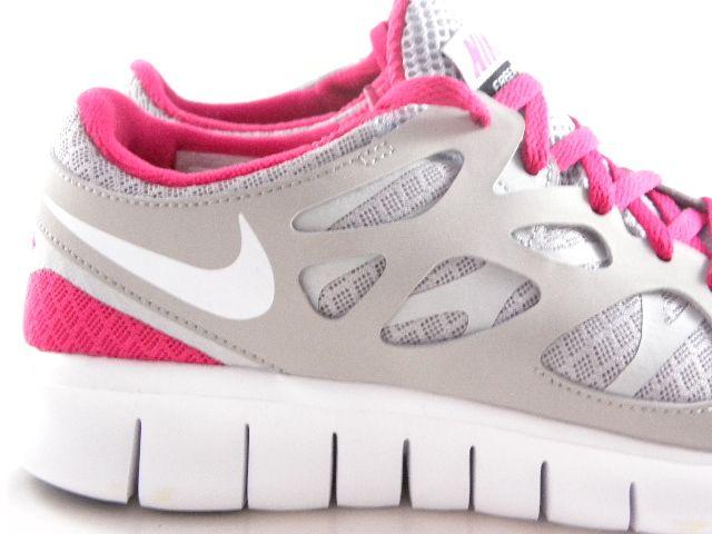 Nike Free Run 2 GrayPinkWhite Light Running Trainers Work
