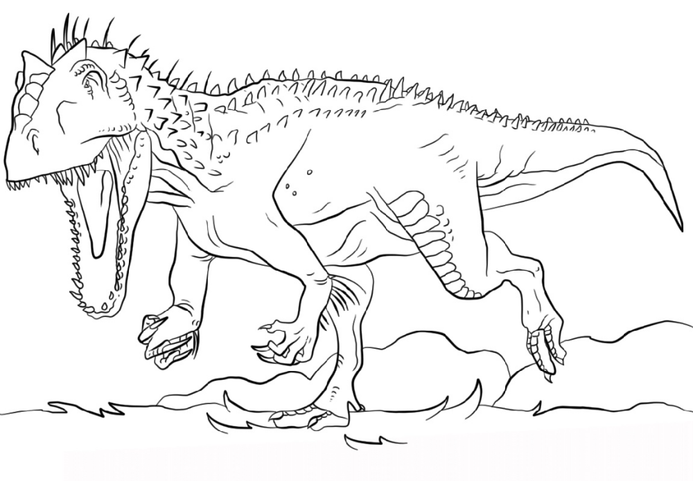 Indominus Rex Coloring Page Dinosaur coloring pages