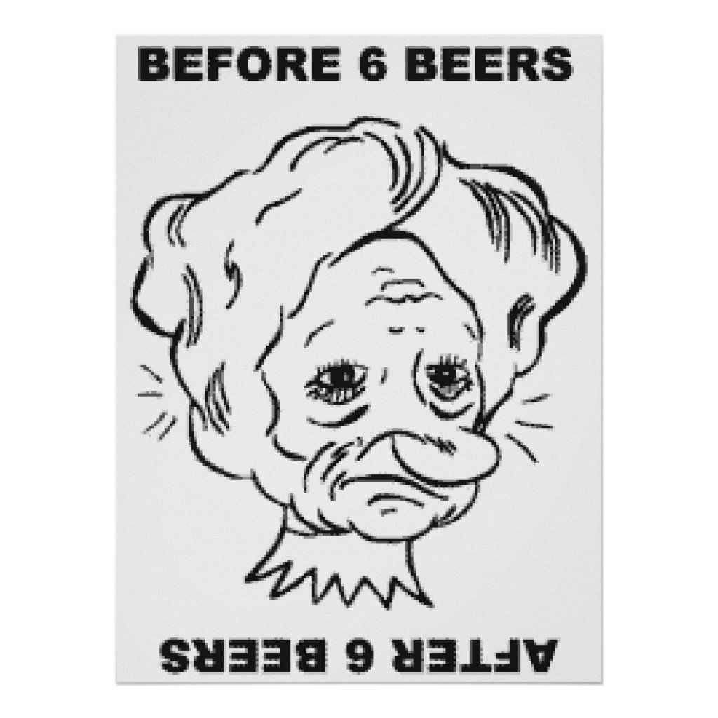 Before And After 6 Beers Poster - Custom Prints - Design Your Own Posters - Create Personalized Wall Art