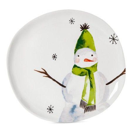 Snowman · Snowman 11in Melamine Dinner Plate ...  sc 1 st  Pinterest & Snowman 11in Melamine Dinner Plate White - Threshold™ : Target ...
