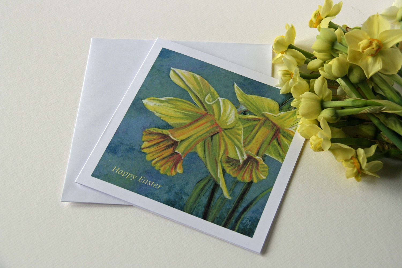 Easter Card Set Set Of 5 Fine Art Cards Daffodils Card Gift Set