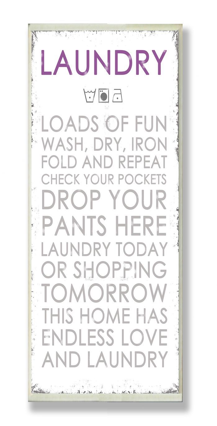 Laundry Room Wall Plaques Laundry Loads Of Fun Typography Wall Plaque  Lettering  Words To