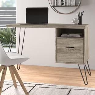 Modern Contemporary Skinny Desk Allmodern In 2020 With Images Retro Style Desk Office Furniture Modern All Modern