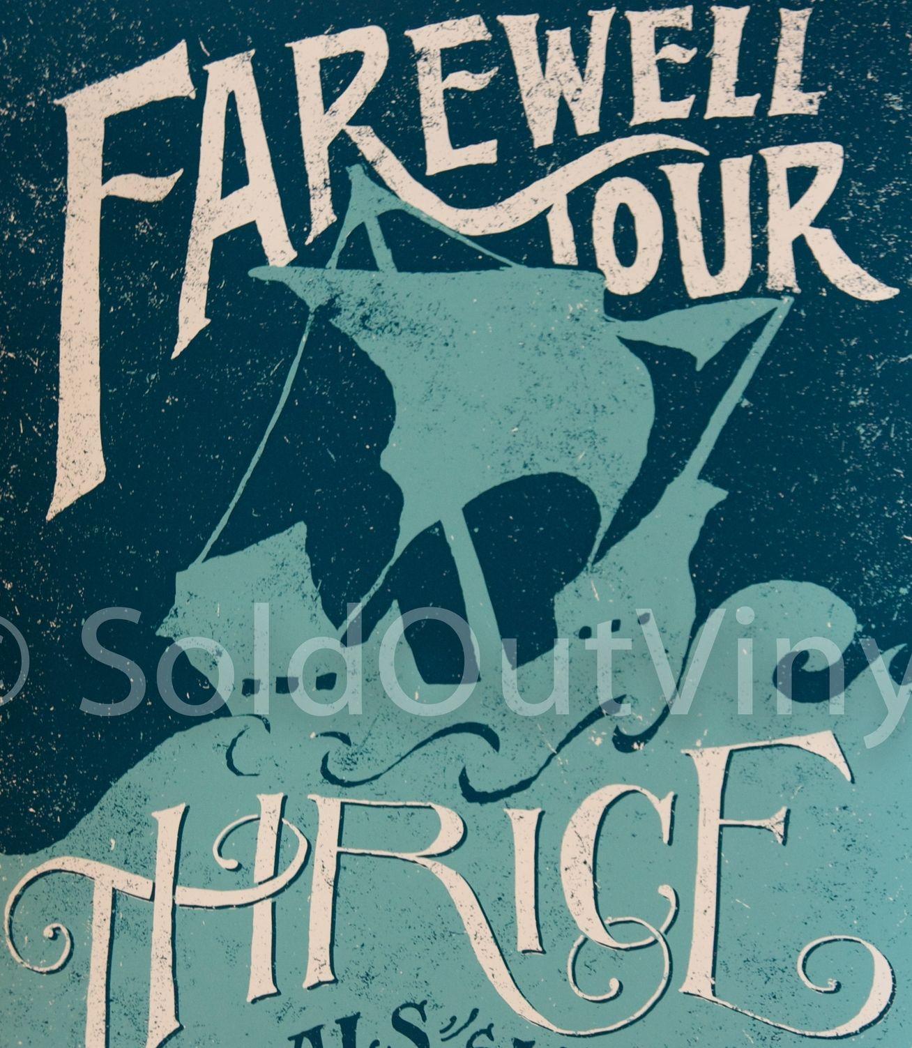 Thrice Farwell Tour Poster Art Print Soldoutvinyl Tour Posters Posters Art Prints Art Prints