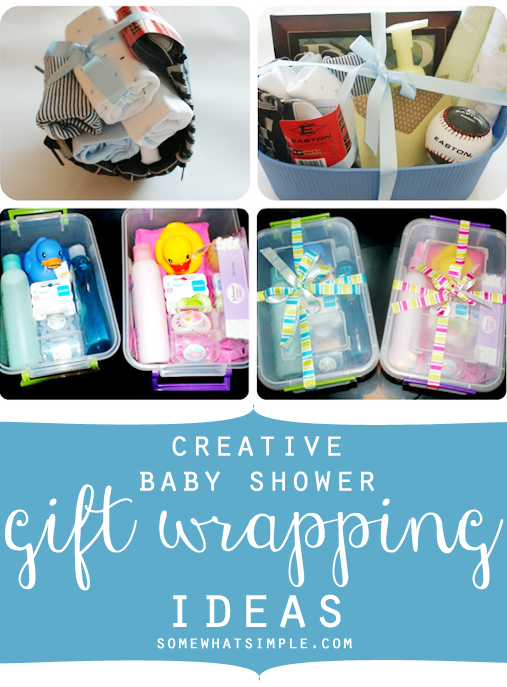 Creative Baby Shower Gift Wrapping Ideas The Best Of Somewhat