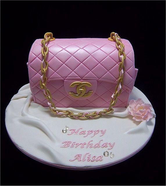66d454b37bff Pink Coco Chanel Handbag Cake
