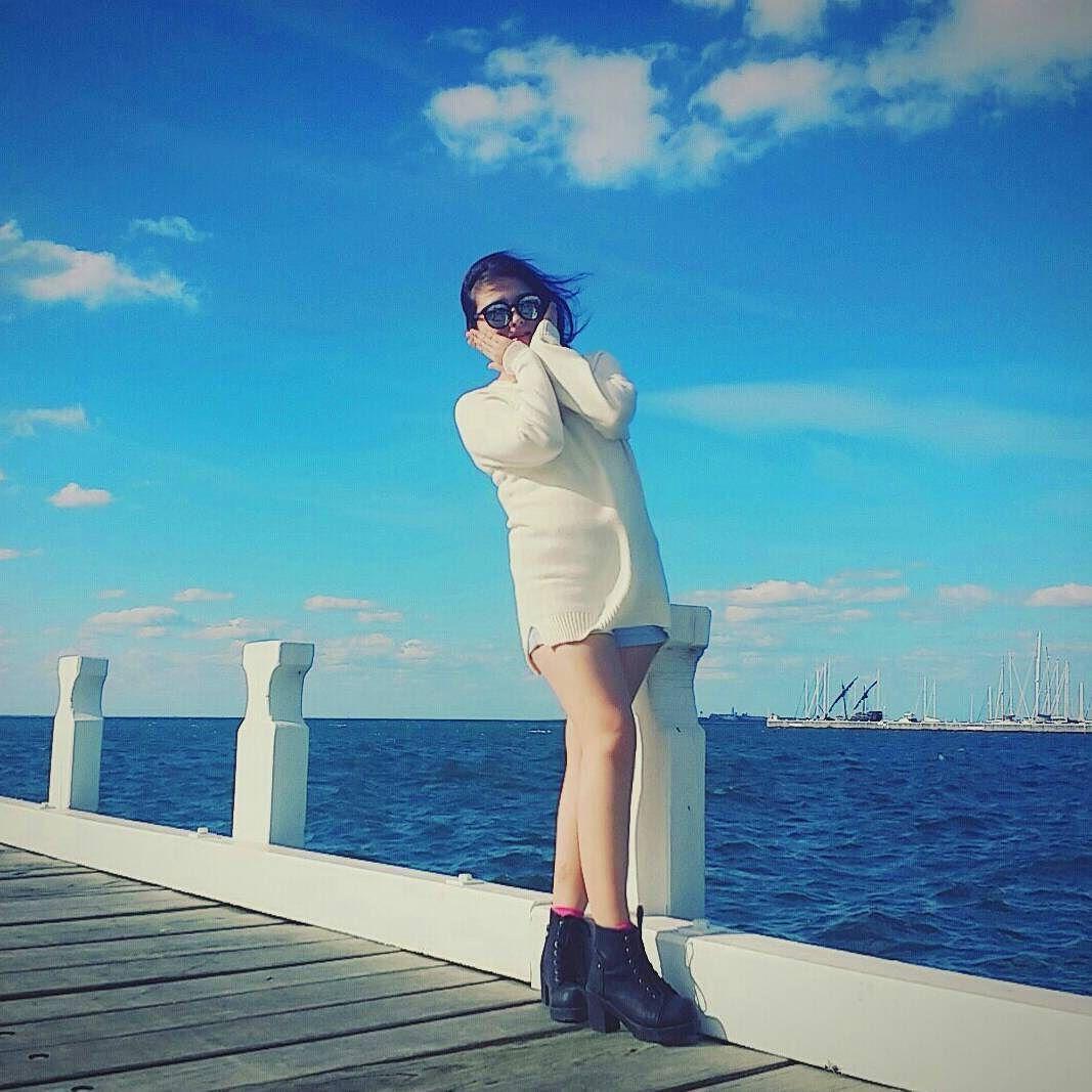 이 세상에서 제일 이쁜건 바다랑 하늘. 또 가고싶다. 한국가면 많이 그리울거야 #australia #melbourne #geelong #easternbeach #가을바다 by h_ar1018 http://ift.tt/1JtS0vo