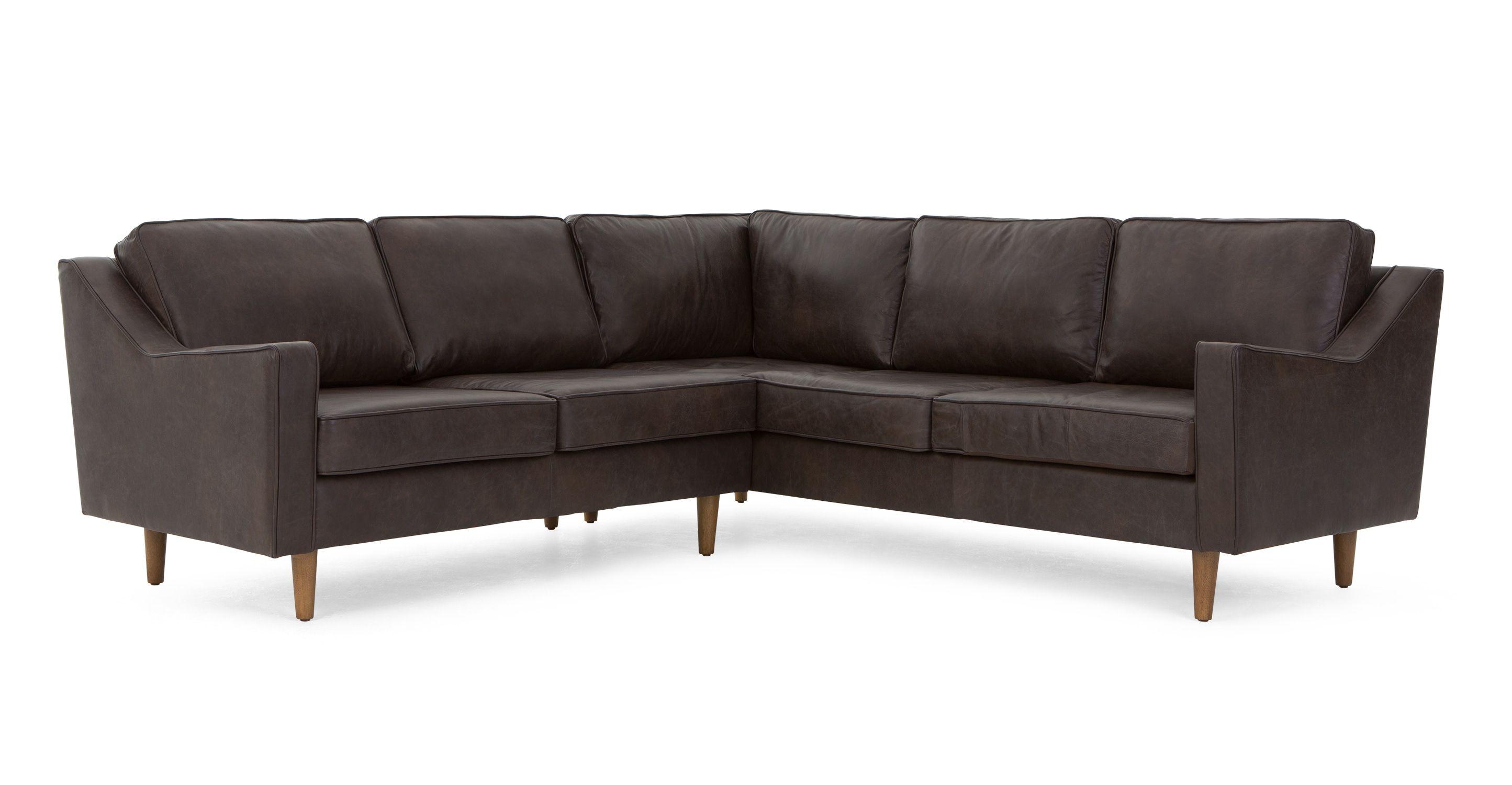 Wohnzimmer sofa ~ Dallas ecksofa premium leder in oxfordbraun made jetzt