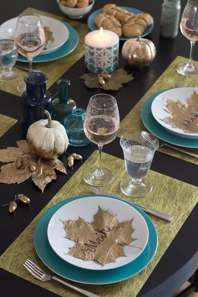 Herbstliche Tischdeko in Gold GALERIA Kaufhof