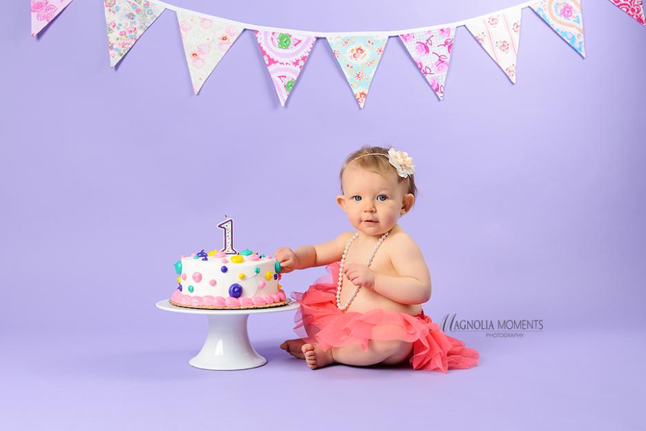 First birthday cake with smash cake Beautiful cakes 2017 photo