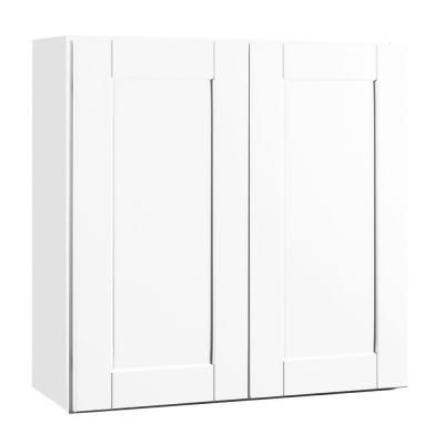 Hampton Bay Shaker Assembled 30x30x12 In Wall Kitchen Cabinet In
