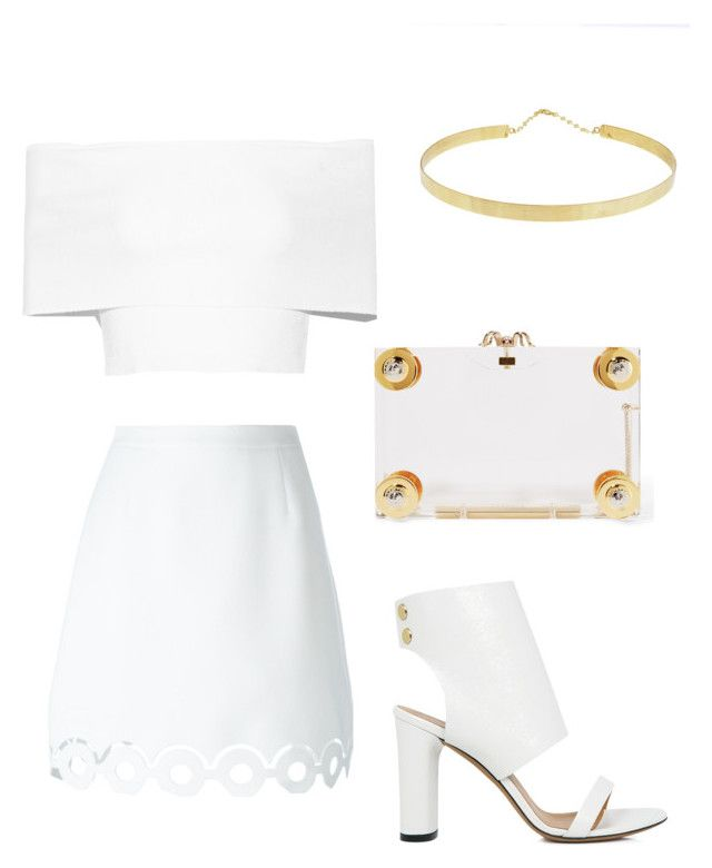 """▫️◽️"" by fashionjunkiee-1 ❤ liked on Polyvore featuring Rosetta Getty, Carven, Lana, IRO and Charlotte Olympia"