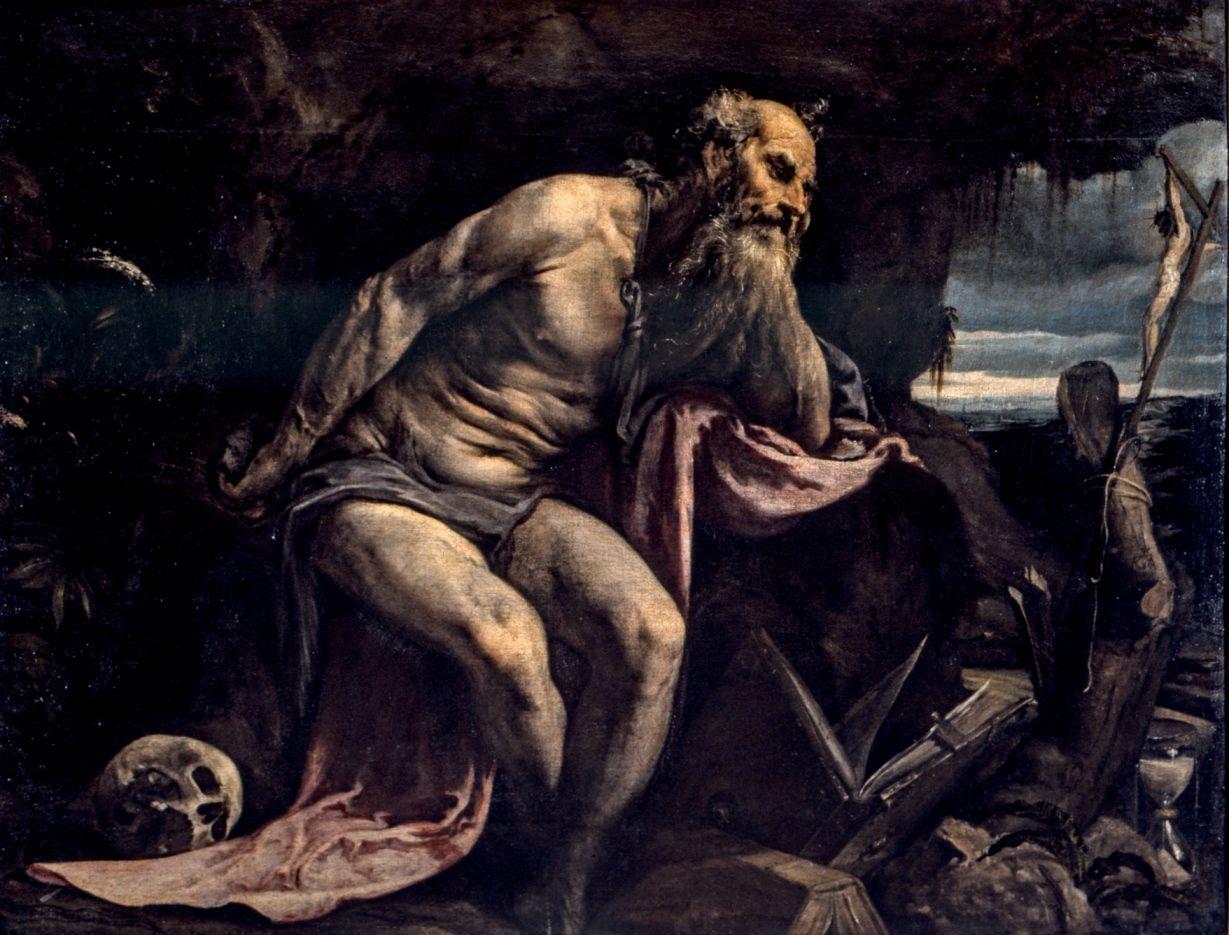 """Resultado de imagem para SÃO JERÔNIMO"""" (1550-1580), de Il Bassano - Jacopo da Ponte (c. 1510-1592)"""