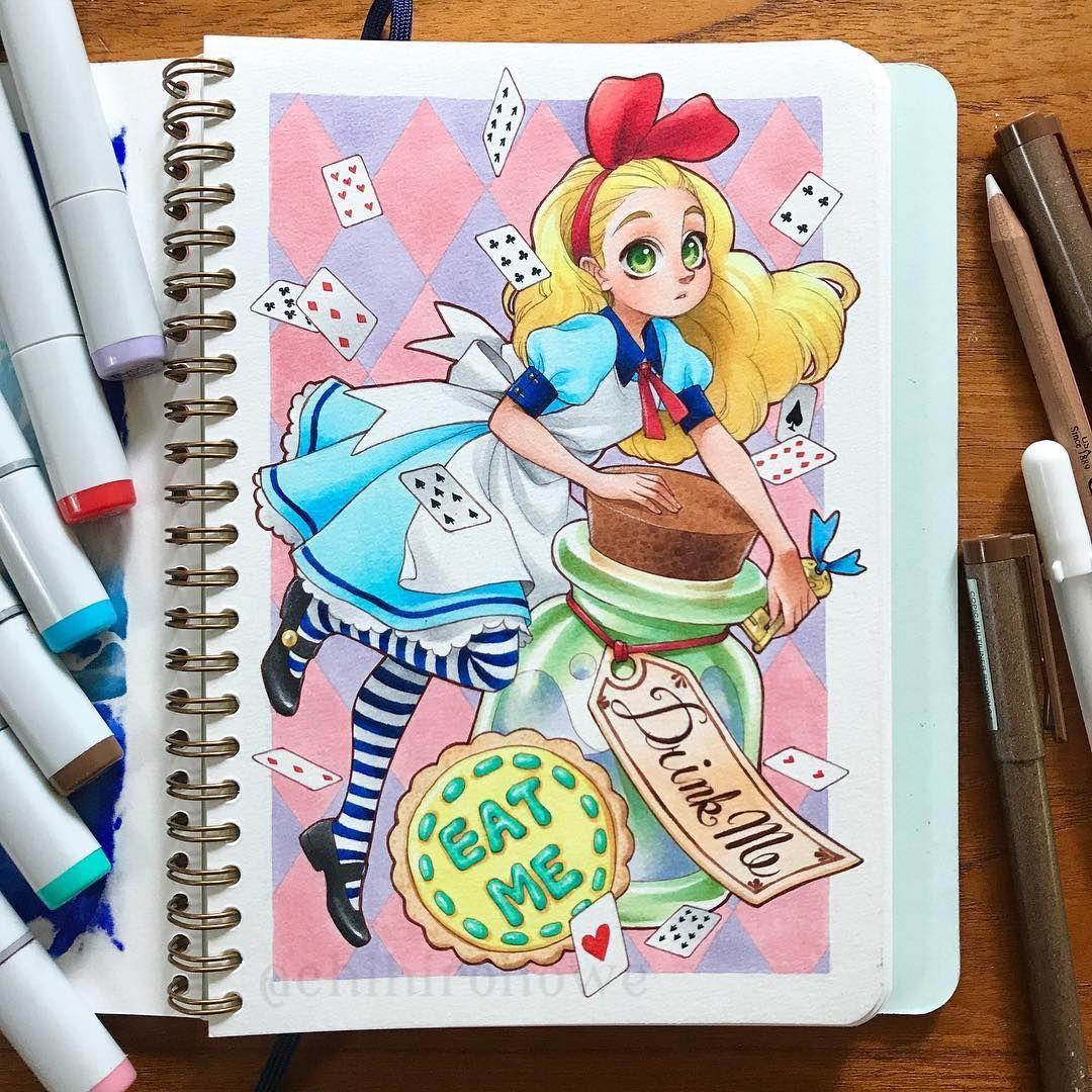 Pin By Cute Draw On Notebook Art Alice In Wonderland Fanart