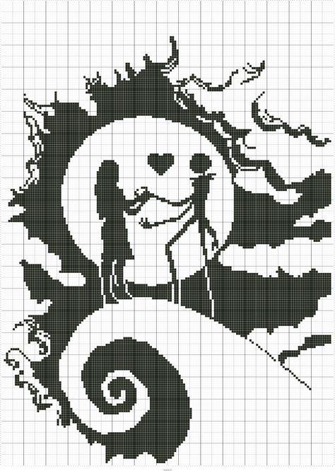 Nightmare Before Christmas | pixel art | Cross Stitch, Stitch, Cross ...