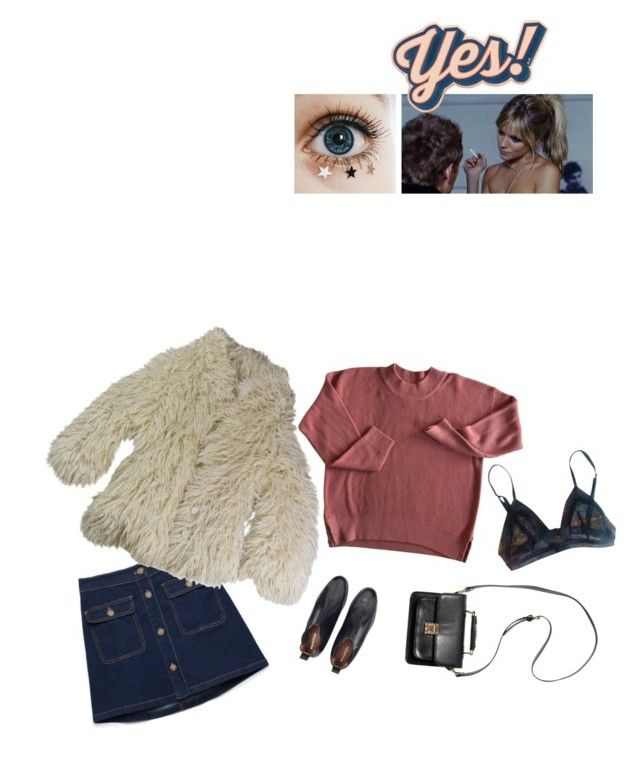 """""""UGH!"""" by francoisehardy-s ❤ liked on Polyvore featuring La Perla, Maison Margiela, Anya Hindmarch, Monki, women's clothing, women, female, woman, misses and juniors"""