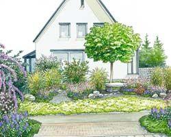 den eigenen vorgarten ansprechend gestalten baum vorgartengestaltung garten und garten. Black Bedroom Furniture Sets. Home Design Ideas