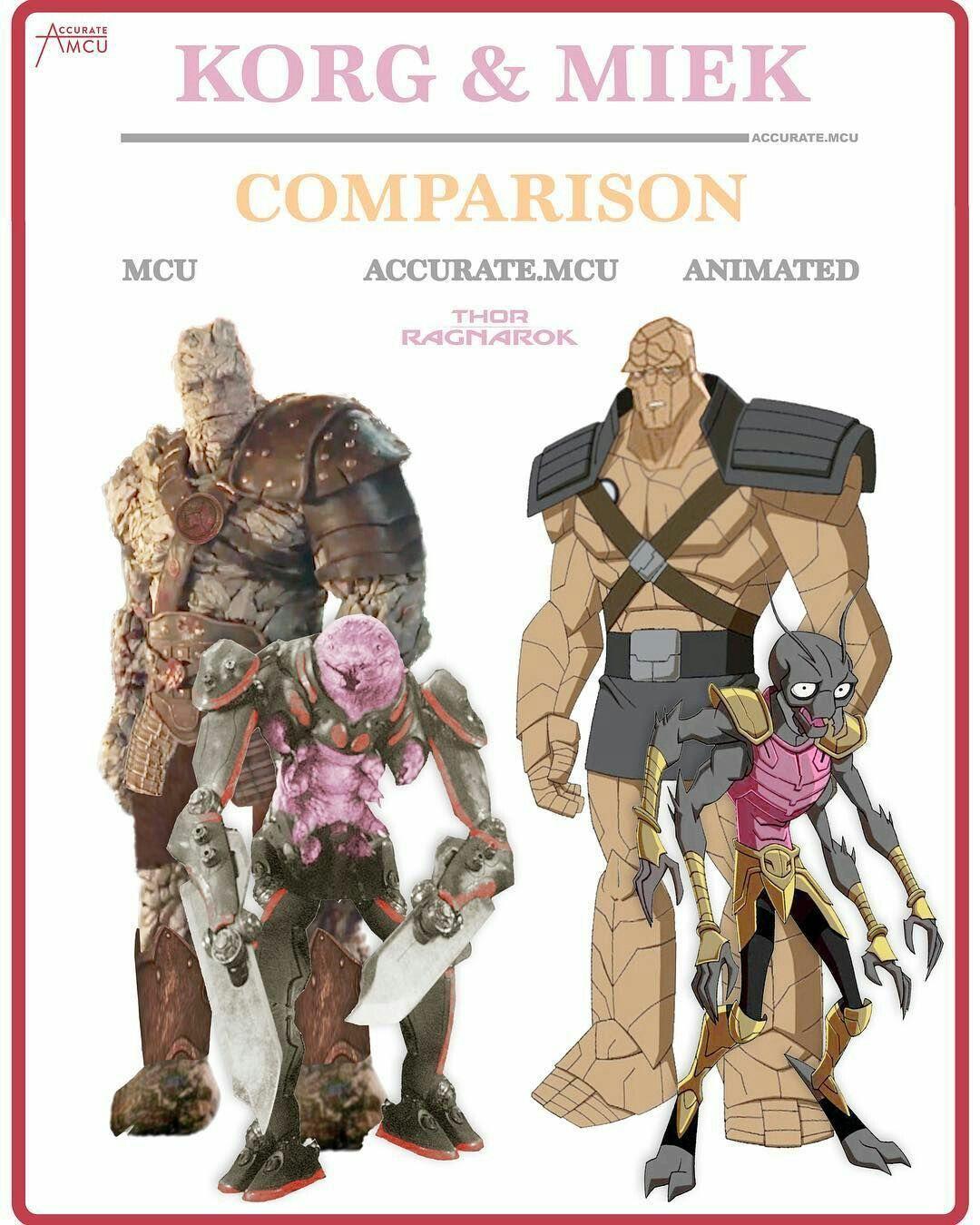 Korg And Miek Comparison Super Heroi Herois Vingadores