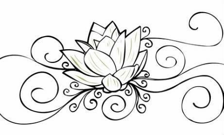 flores loto Colouring Pages | Cerámica | Pinterest | Flor de loto ...