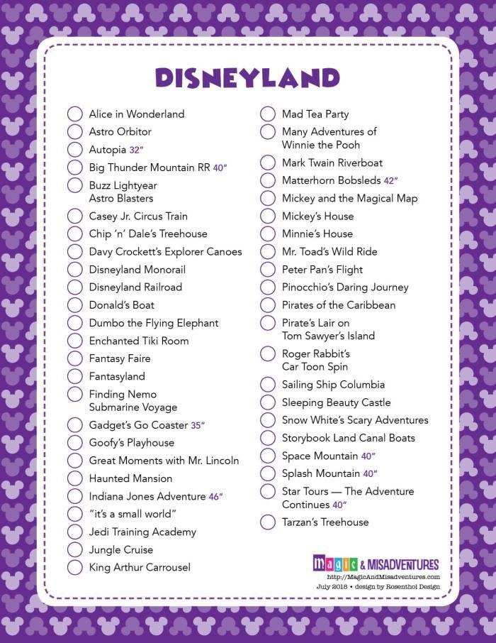 Photo of Disney Park Checklisten   Magie & Missgeschicke