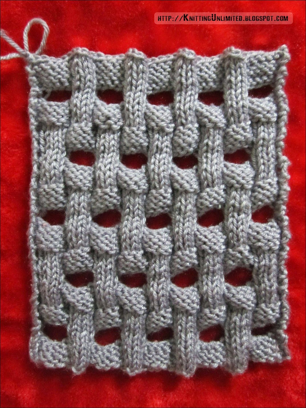 Knitting stitch beautiful slip stitch pattern it is 20 rows openwork basket weave knitting pattern bankloansurffo Images