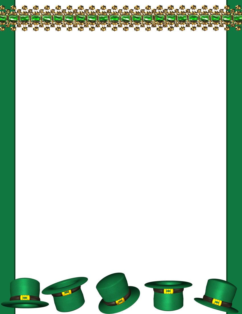 St Patricks Day Free Stationery Com Template Downloads St Patricks Day Clipart Free Printable Stationery St Patricks Day