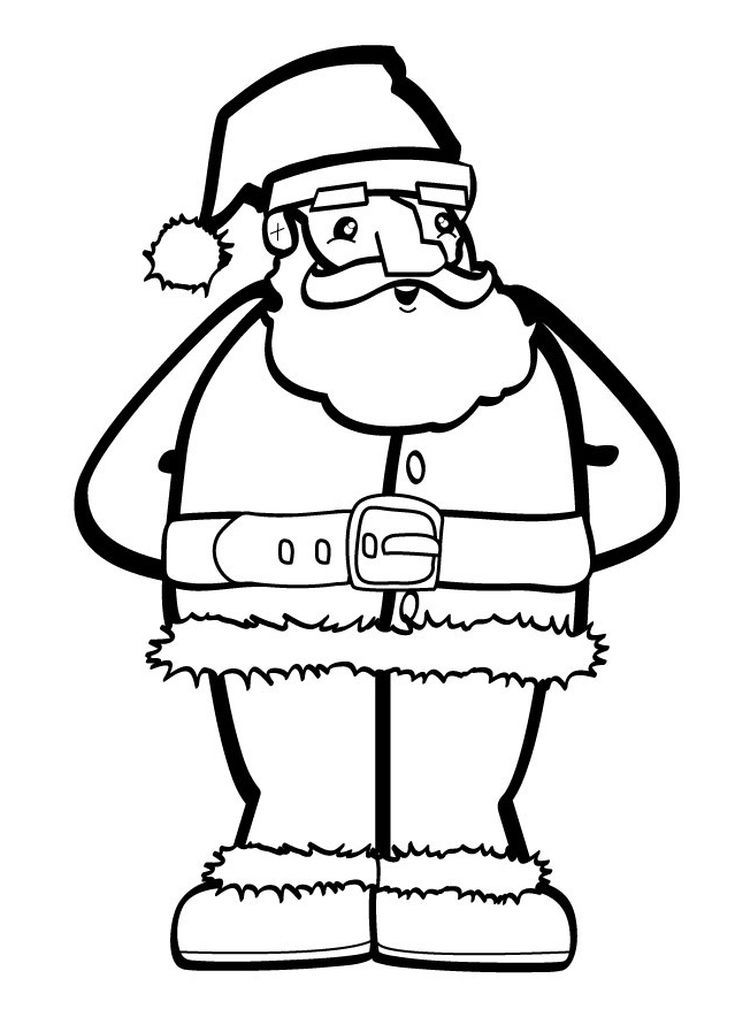 Print Free Santa Claus Coloring Pages This Christmas Have A Holly