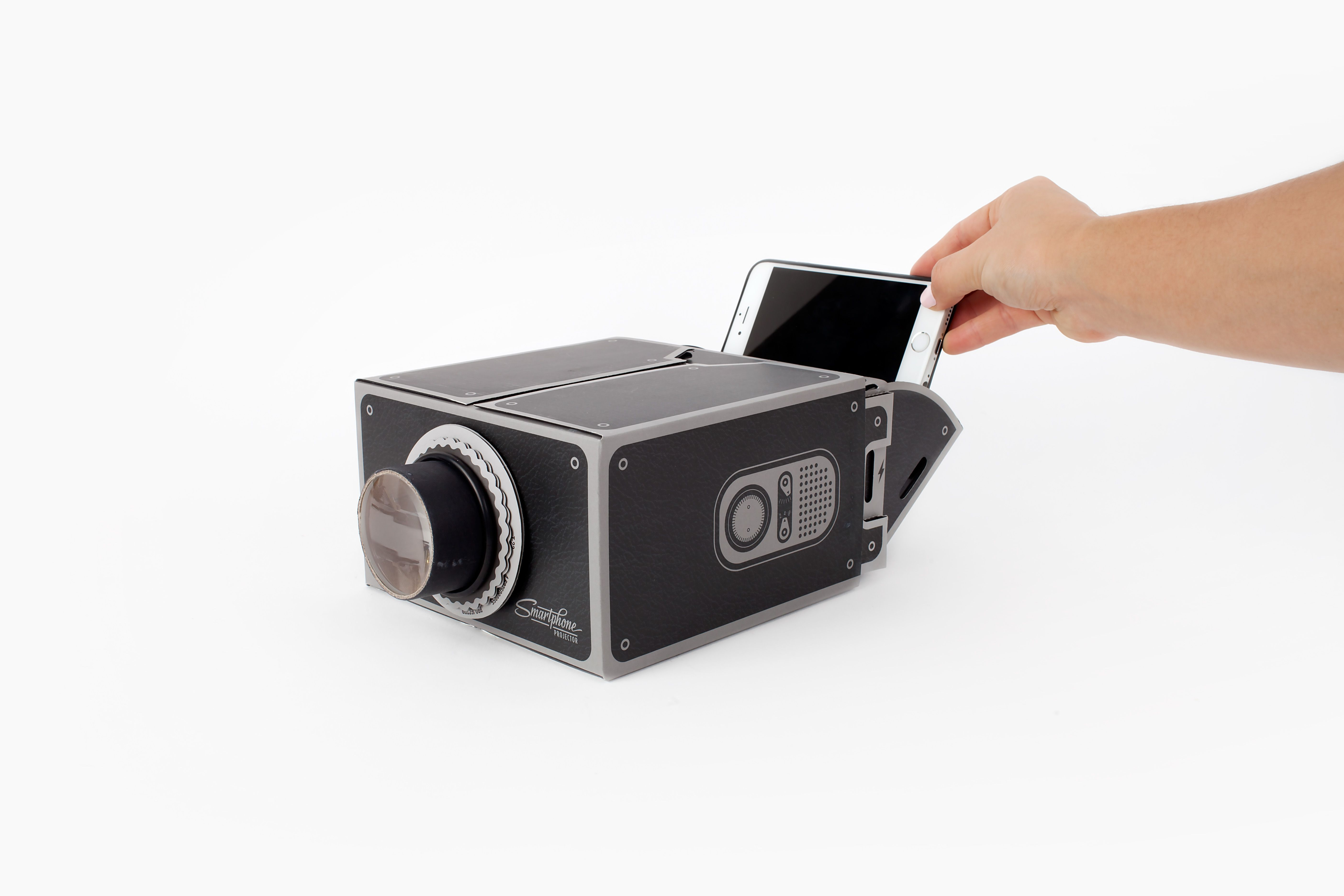 Pop your phone in the Gee-Whiz Smartphone DIY Projector and you'll be able to watch your vids magnified on your wall