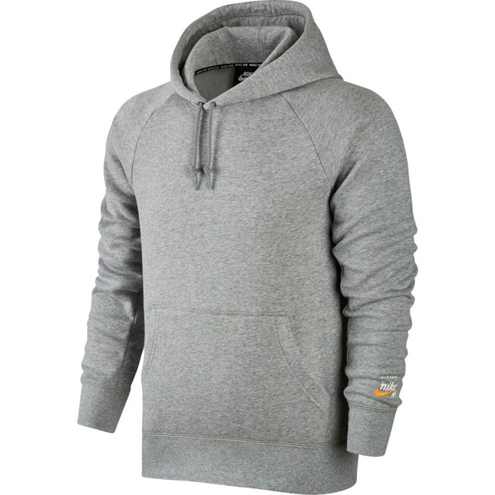 Nike SB x Numbers Icon grey heather/vivid orange hood - Clothing  | Manchester's Premier Skateboard Shop | NOTE Skate Shop Manchester