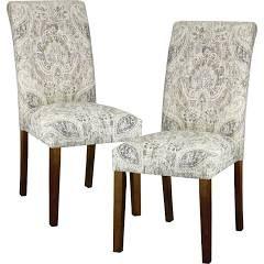 Skyline Furniture Avington Print Accent Dining Chair Plazzo Beech Brown Leg Set Of 2