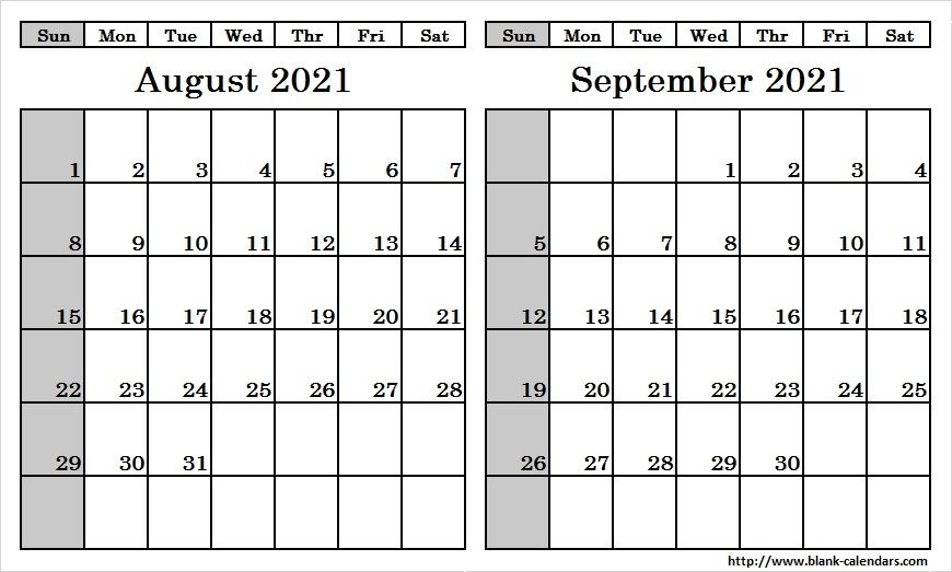July August September 2021 Calendar