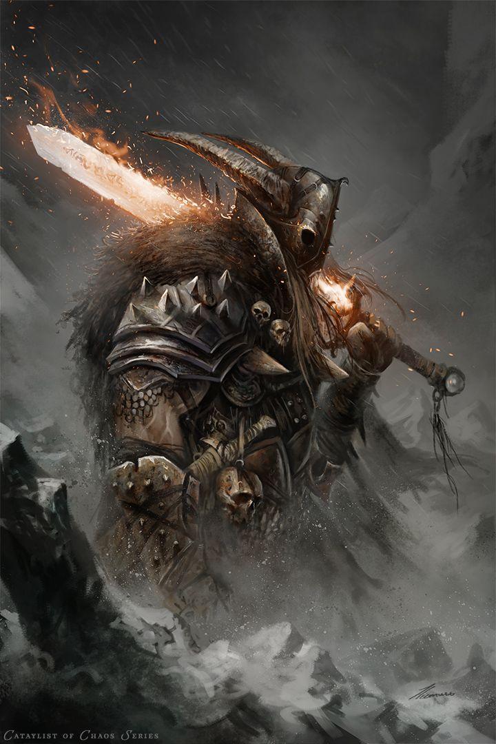 Chaos Orc Fantasy Art