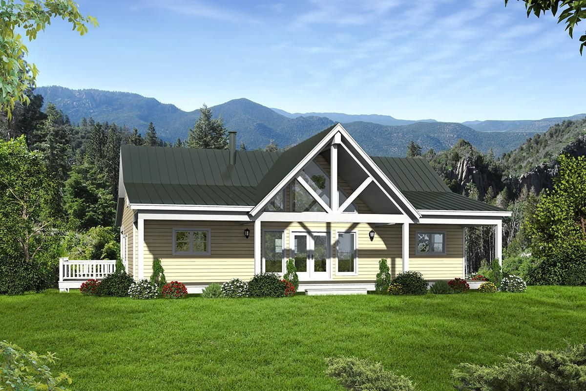 House Plan 940 00091 Cottage Plan 2 000 Square Feet 2 3 Bedrooms 2 5 Bathrooms Country Style House Plans Mountain House Plans Cottage Plan