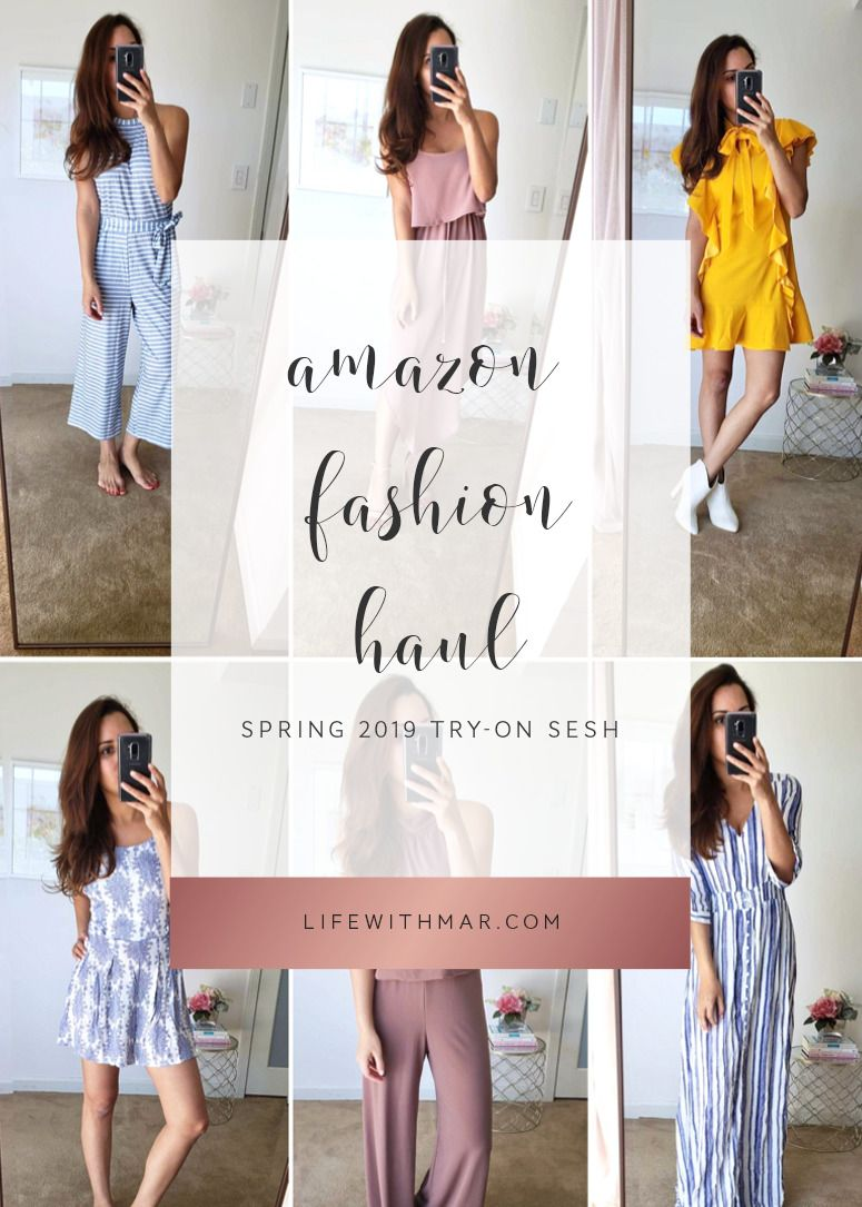 9b2c0a2333 amazon fashion spring haul 2019 try on session. Click to see these cute  amazon outfits
