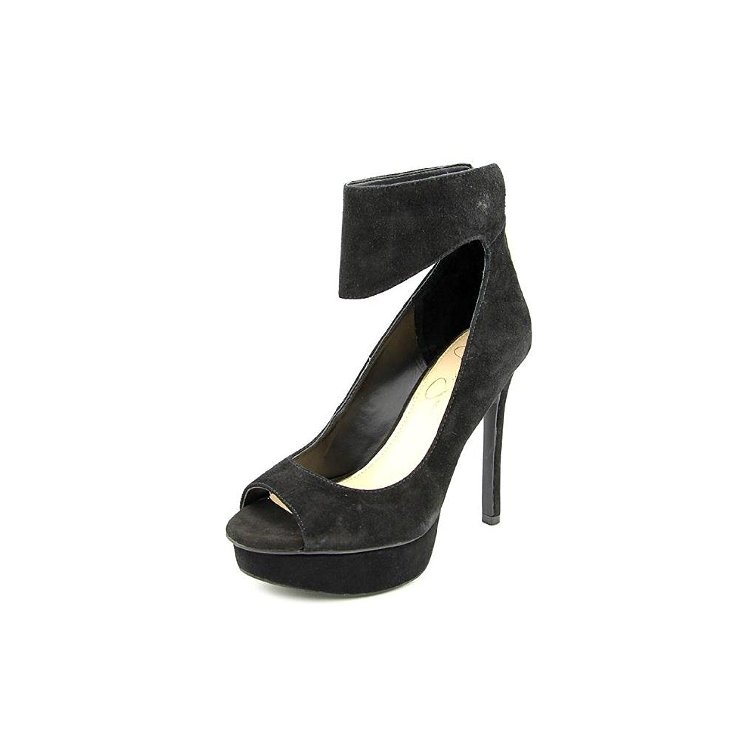Jessica Simpson Crusherr Open Toe Suede Platform Heel * Find out more details by clicking the image : Women's Shoes
