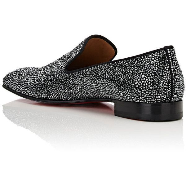 Mens Dandelion Strass Flat Suede Venetian Loafers Christian Louboutin eBv8NZoA