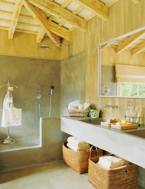 30 ideas de decoración para baños rústicos pequeños | Baños rusticos ...