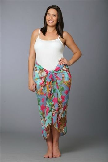 62cbb7474474e This fun retro Hawaiian print plus size sarong wrap is figure flattering as  well as pretty