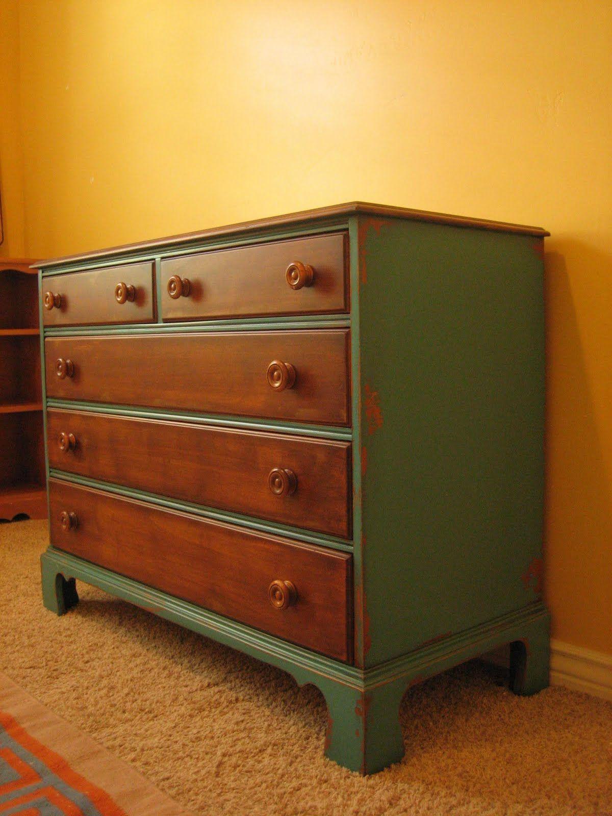 Wood And Paint Dresser Redo Furniture Furniture Makeover Diy Dresser