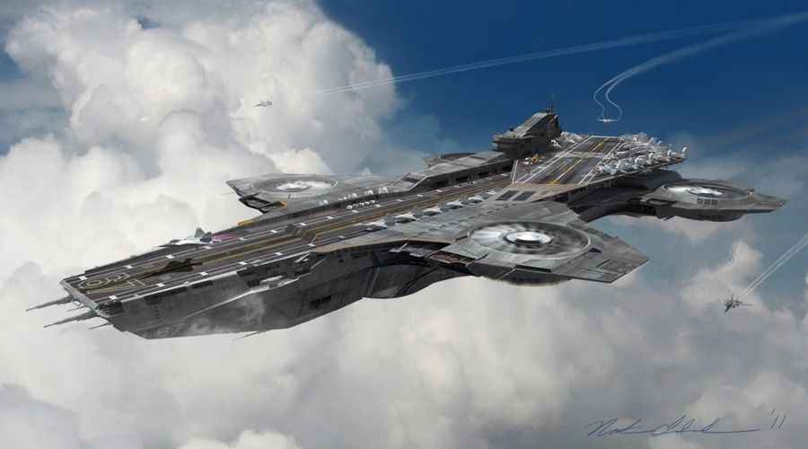 Image result for the avengers flying aircraft carrier