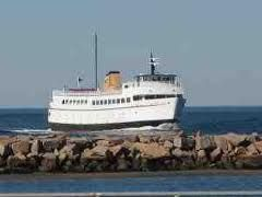 Watch the Ferry from the shores of Point Judith.  #VisitRhodeIsland
