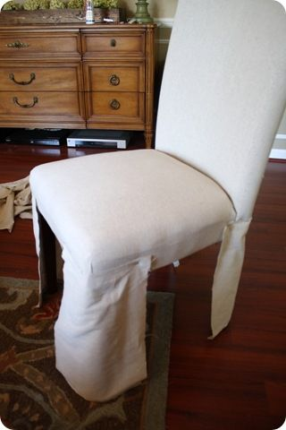 No Sew Parsons Chair Re Cover