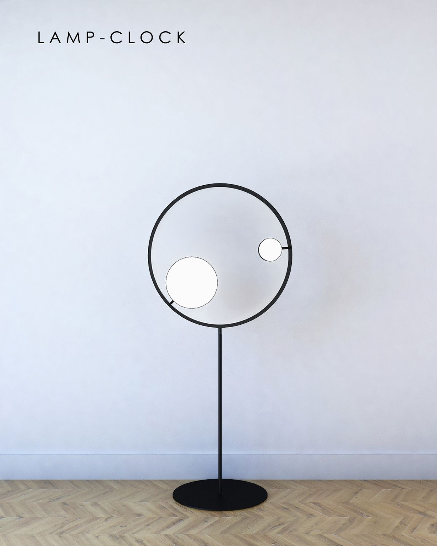 Clock Light By Aij Kaldanova Design Pinterest Uhren
