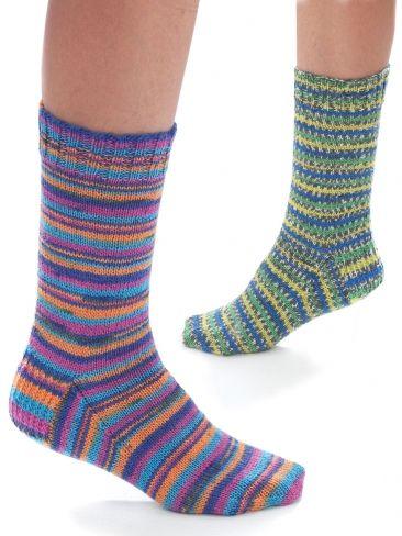 Jacquard & Stripe Socks | Yarn | Free Knitting Patterns ...